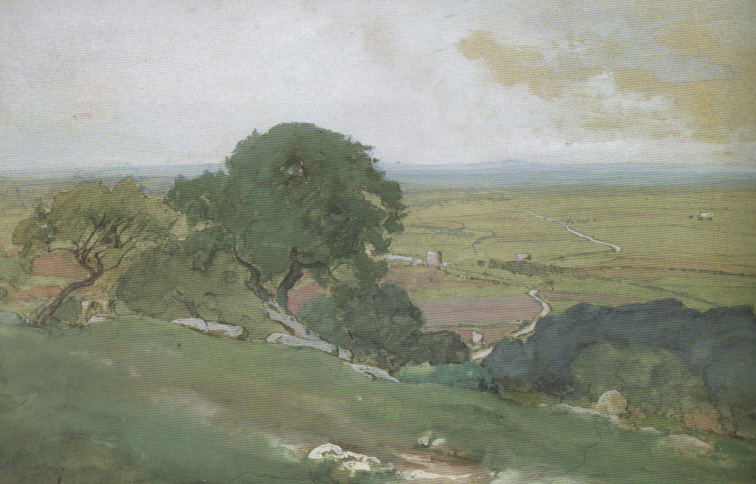 Inness - Olive trees at tivoli